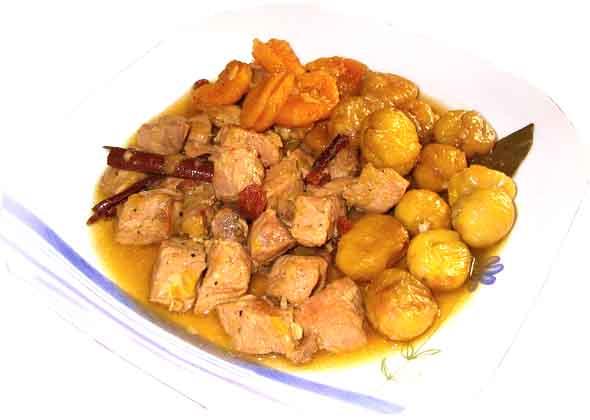 Receta de estofado de ternera con castañas
