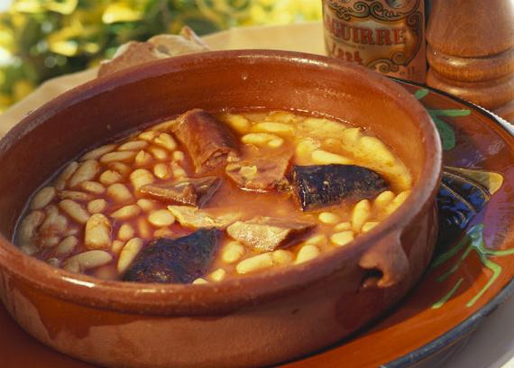 Receta de fabada asturiana al horno de leña