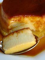 Receta de flan de queso al baño maría