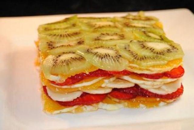 Receta de lasaña de frutas
