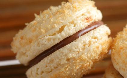Receta de macarons de coco