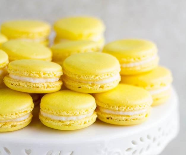 Receta de macarons de limón