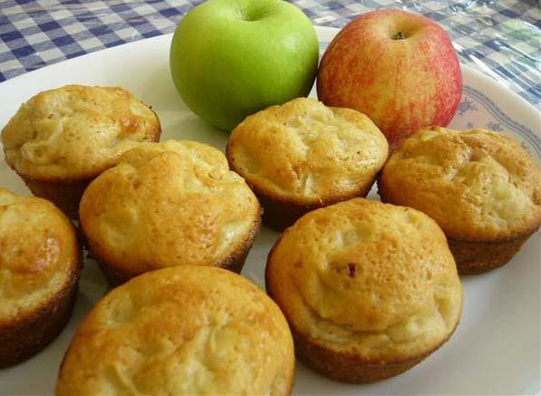 Receta de magdalenas de manzana