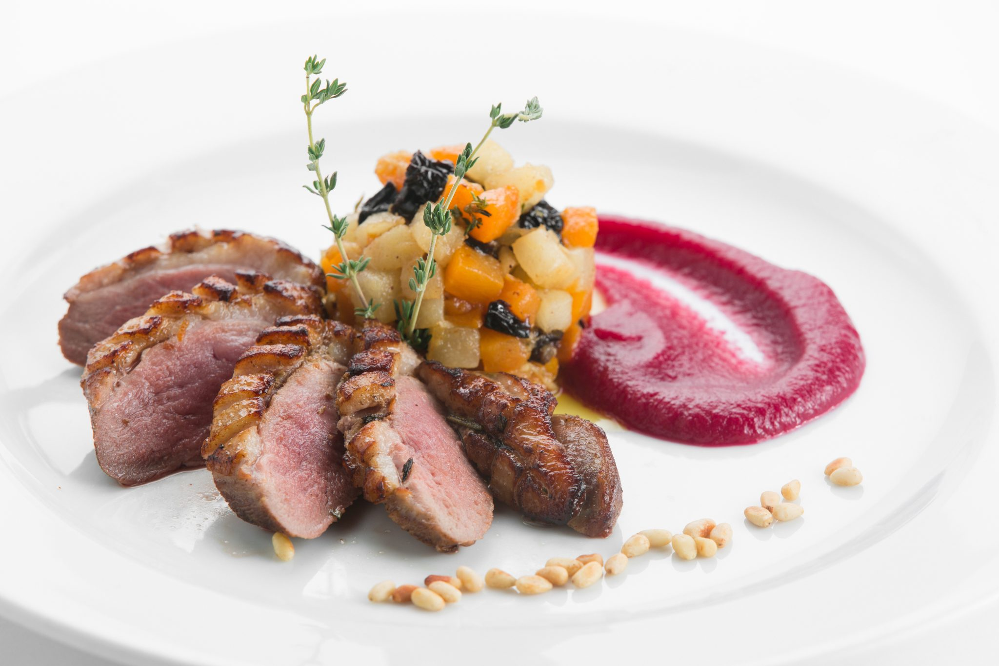 Duck Breasts With Apples And Caraway Recipe — Dishmaps
