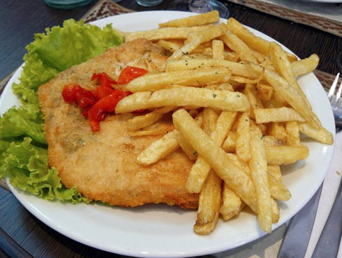 Receta de milanesa con patatas fritas