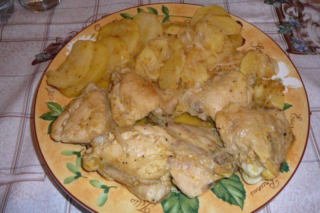 De con nata pollo muslos