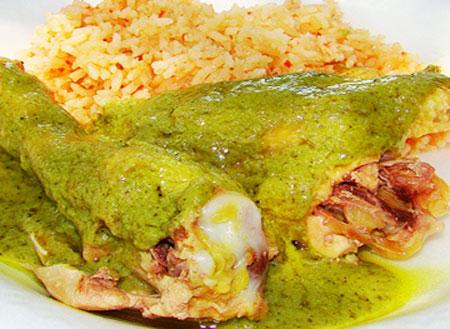 Receta de muslos de pollo al horno con salsa verde - Salsas para el pollo al horno ...