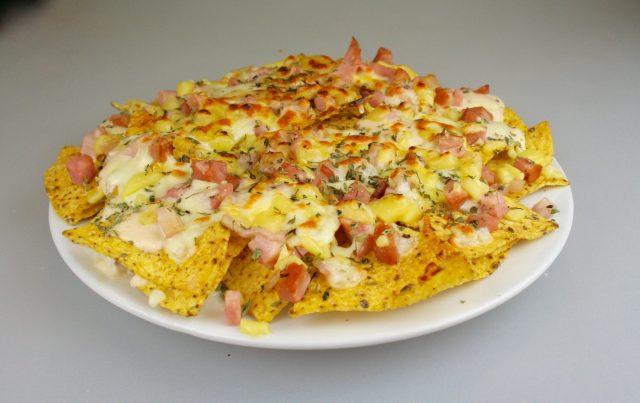 Receta de nachos a la carbonara