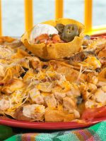 Receta de nachos con curry