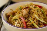Receta de noodles con pollo