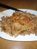 Receta de noodles con salsa de ostras