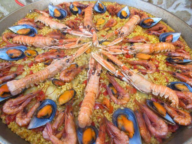 Receta de paella de marisco con ñoras