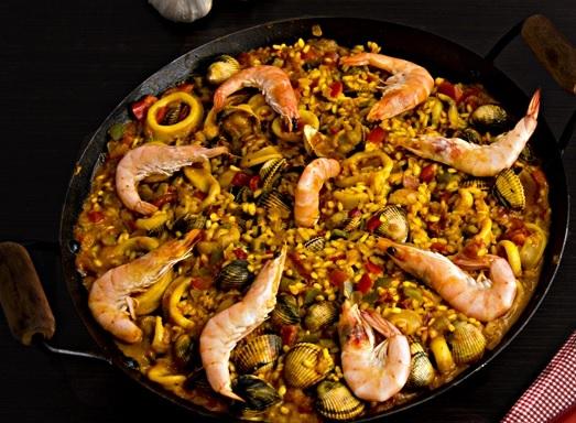 Receta de paella de marisco con calamares y berberechos - Como cocinar berberechos ...