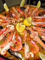 Receta de paella de marisco con congrio