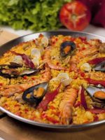 Receta de paella de marisco light