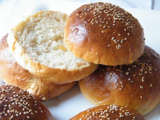 Receta de pan casero de hamburguesa