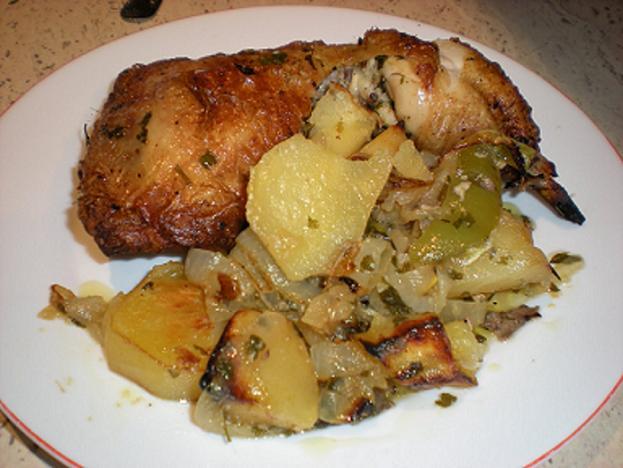 Receta de pechuga de pollo al horno con patatas for Pechugas de pollo al horno con patatas