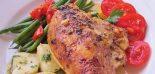 Receta de pechuga de pollo al horno con verduras