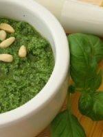 Receta de pesto light
