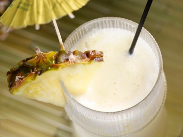 Receta de piña colada light