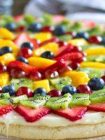Receta de pizza de frutas