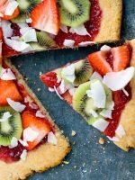 Pizza de frutas falsa