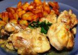 Receta de pollo al ajillo con vinagre de módena