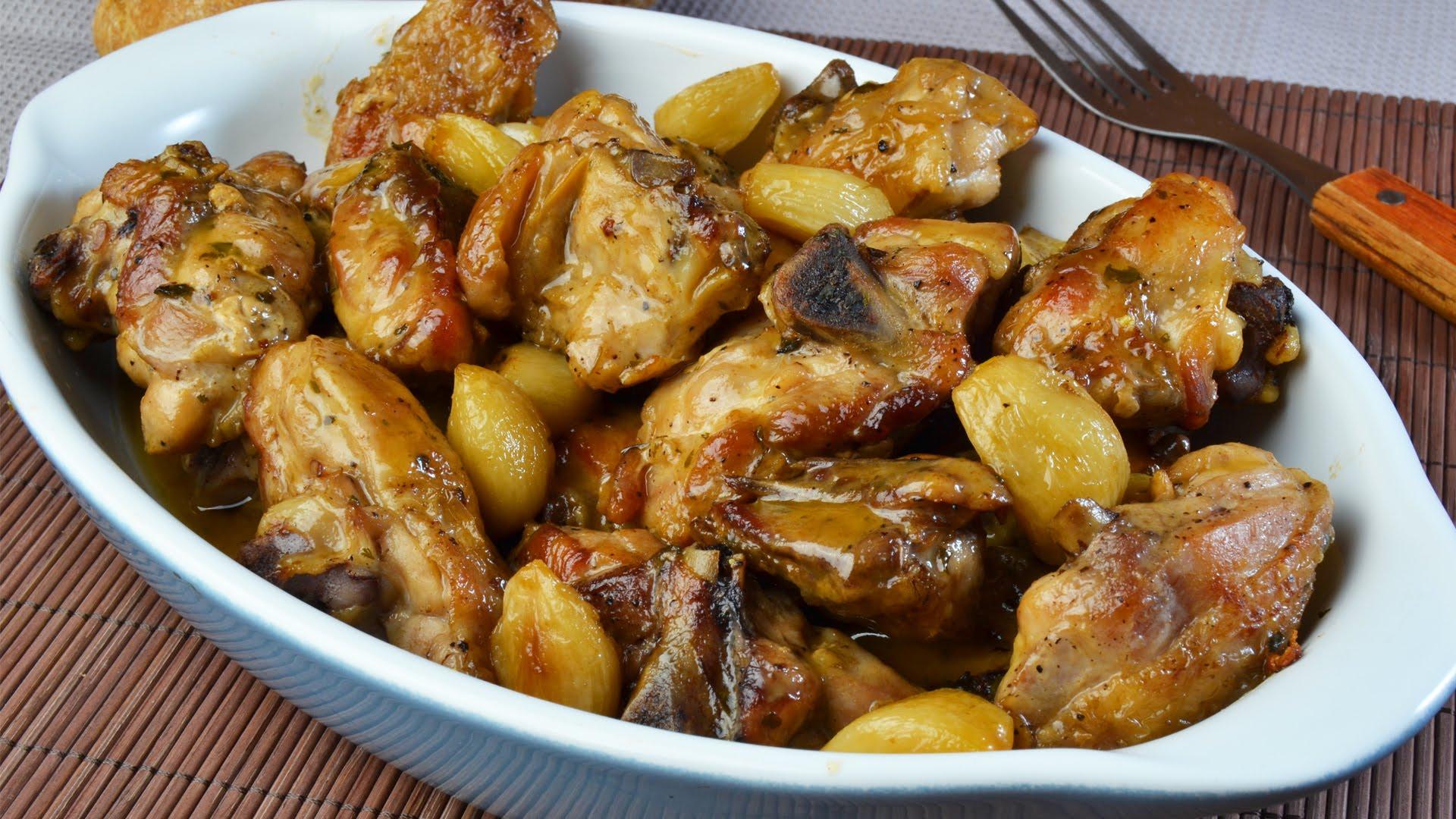 Receta de pollo al ajo for Como cocinar pollo al curry