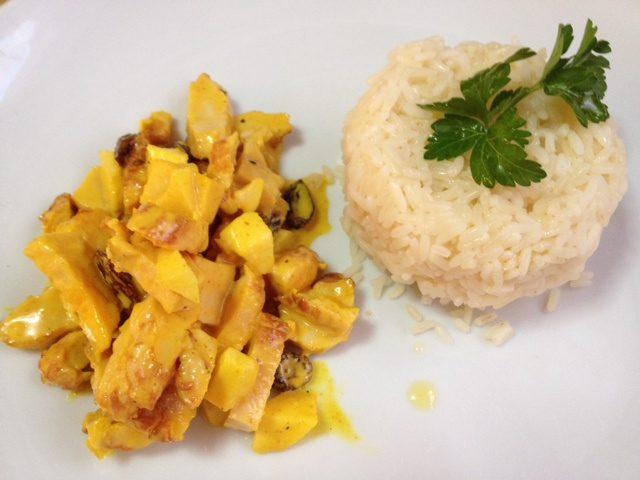 Receta de pollo al curry a la mostaza
