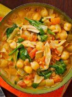Receta de pollo al curry con garbanzos