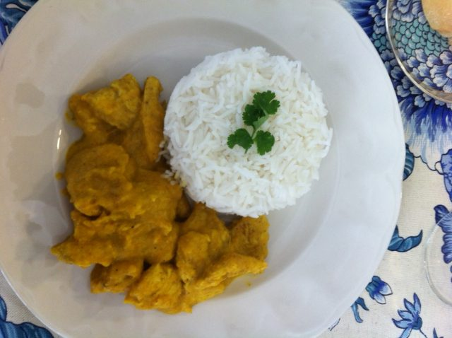 Receta de pollo al curry sin nata