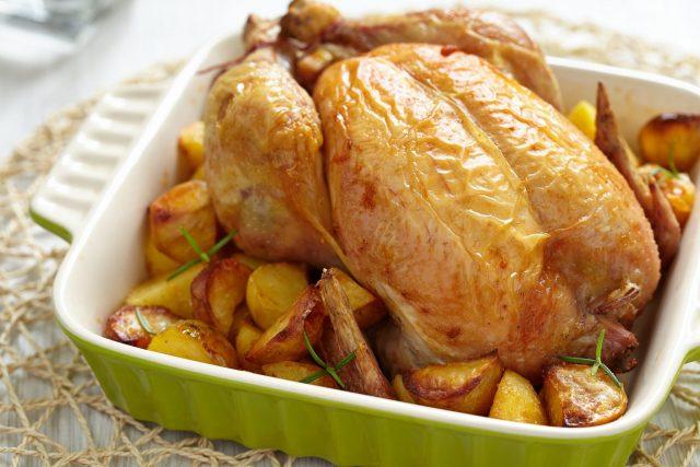 Receta de pollo al horno con patatas