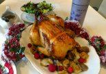 Receta de pollo al horno relleno de verduras