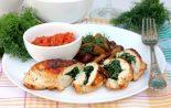Receta de pollo relleno de espinacas y queso