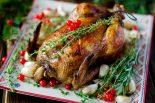 Receta de pollo relleno de Navidad