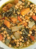 Receta de potaje de garbanzos con verduras