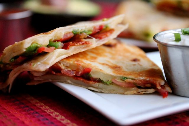 Receta de quesadilla con bacon