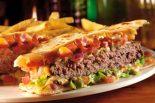 Receta de quesadilla con hamburguesa
