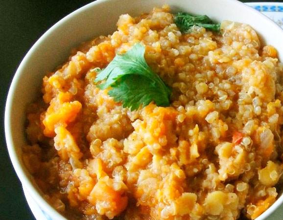 Receta de quinoa con calabaza