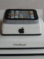 Fondant con forma de MacBook