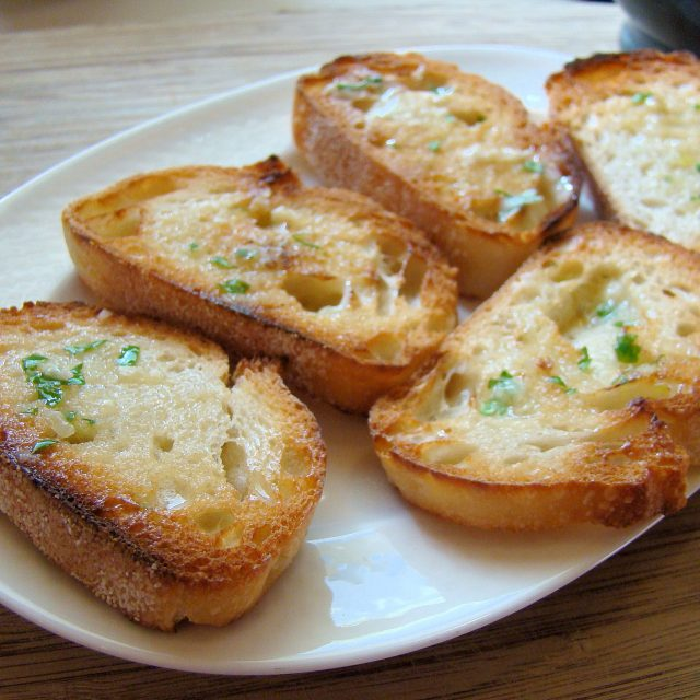 Receta de pan casero de ajo