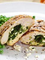 Receta de pollo relleno de espinacas