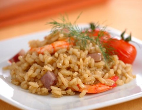 Receta de arroz al horno con gambas