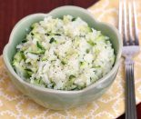 Receta de arroz blanco con calabacín