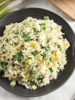 Receta de arroz blanco con puerros
