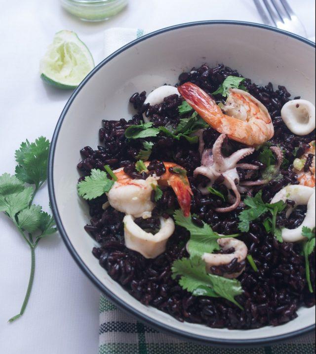 Receta de arroz negro con chipirones