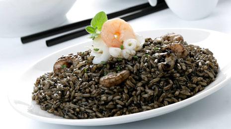 Receta de arroz negro con gambas