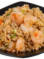 Receta de arroz tres delicias con gambas