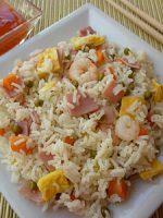Receta de arroz tres delicias con salsa agridulce