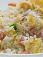 Receta de arroz tres delicias frito
